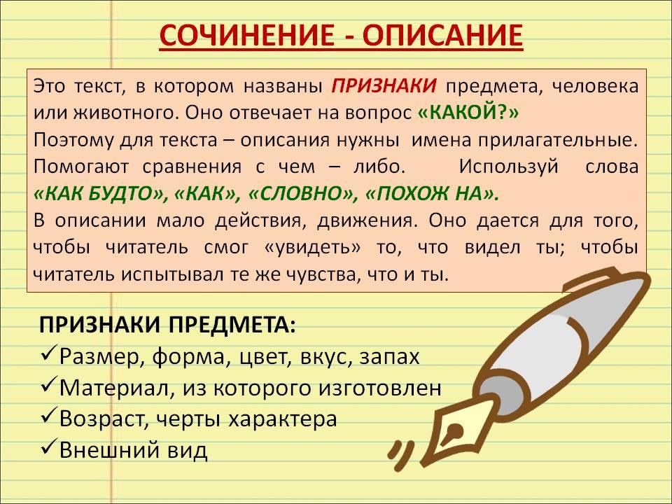 сочинение 6 класс описание знакомого